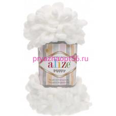 Alize PUFFY 55 белый