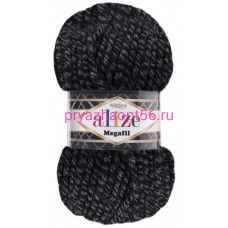 Alize SUPERLANA MEGAFIL 600 черно-серый меланж