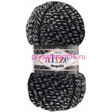 Alize SUPERLANA MEGAFIL 601 черно-белый меланж