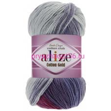Alize COTTON GOLD BATIK 3686 роз/голубой/белый