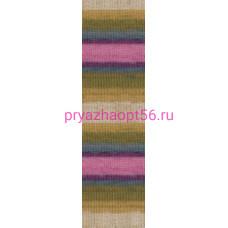 Alize BURCUM BATIK 4341 беж-горчица-мор. волна-фуксия