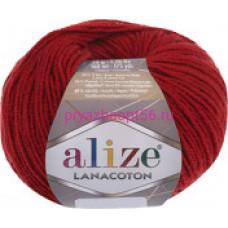 Alize LANACOTON 56 красный