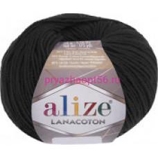 Alize LANACOTON 60 черный