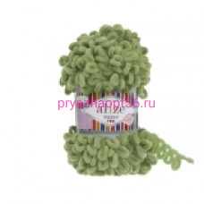Alize PUFFY FINE 485 зеленая черепаха