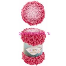Alize PUFFY FINE OMBRE BATIK 7279 розовый