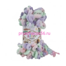 Alize PUFFY COLOR 5938 сиреневый-розовый-мята
