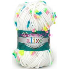 Alize SUPERLANA MAXI FLOWER 5086 белый  (Alize)