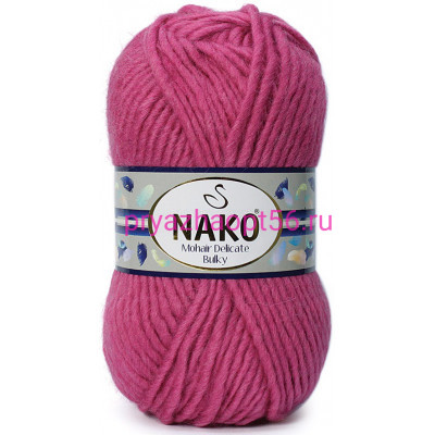Nako MOHAIR DELICATE BULKY 6247 темная роза