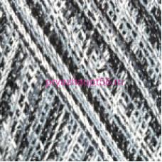 YarnArt VIOLET LUREX MELANG 13216 бело-серо-черный