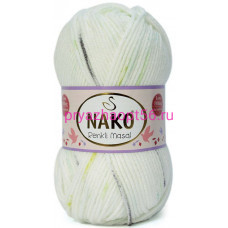 Nako MASAL RENKLI  32093 белый-салат-черный