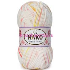 Nako MASAL RENKLI  32097 белый-желтый-красный