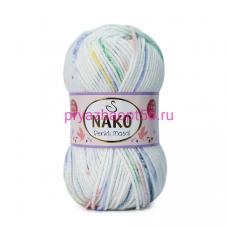 Nako MASAL RENKLI  32101 белый-желтый-зеленый-сиреневый