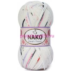 Nako MASAL RENKLI 32102 белый-розовый-сирень-черный
