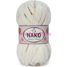 Nako MASAL RENKLI 32108 белый-розовый-коричневый