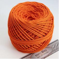 Полиэфирный шнур для вязания 5 мм. с сердечник оранжевый Арт.2011
