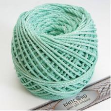 Полиэфирный шнур для вязания 5 мм. с сердечник зеленый меланж Арт.2093