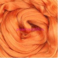 Гребенная лента полутонкая шерсть - оранжевый (Троицкая)