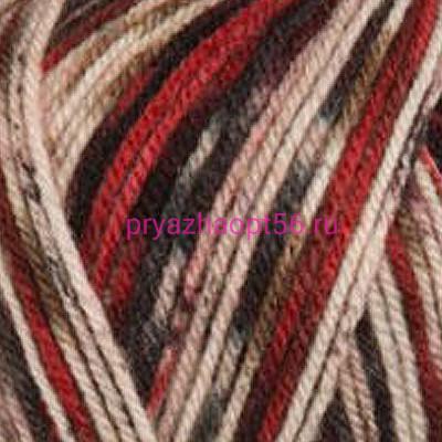 YarnArt CRAZY COLOR 156 черн/красный