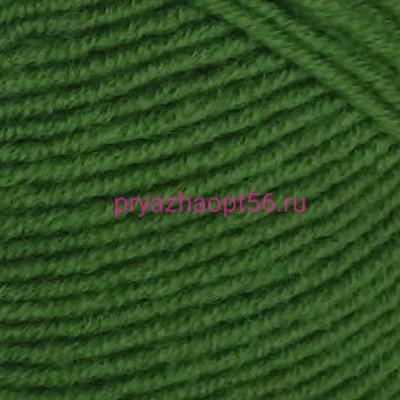 YarnArt MERINO DE LUXE 50 0338 зеленый