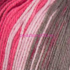 YarnArt DANCING BEBI 818 бело-серо-розовый