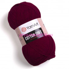 YarnArt COTTON SOFT 66 бордовый